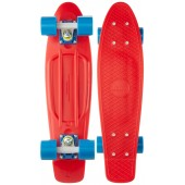 Penny board Penny Strike, 60cm, sustine 100 kg, Rosu
