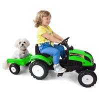 Tractor Falke verde 123x42x53cm, copii 2+