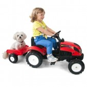 Tractor Falke rosu 123x42x53cm, copii 2+