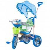 Tricicleta DHS Line roti metal, albastra